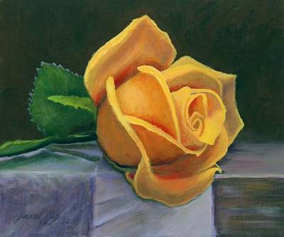 Yellow Rose Poster by Janet King