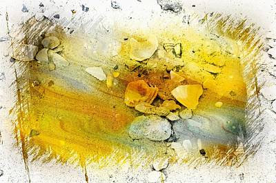 Yellow Shells Poster by Kathleen Struckle