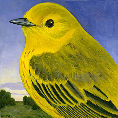 Yellow Warbler Poster by Francois Girard