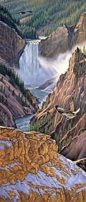 Yellowstone Canyon-osprey Poster by Paul Krapf