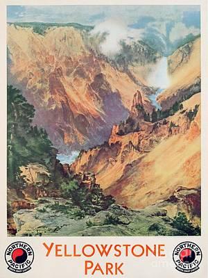 Yellowstone Park Poster by Thomas Moran