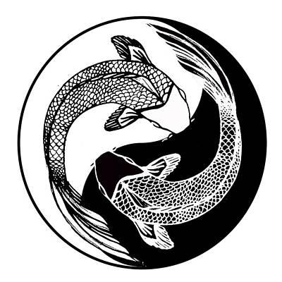 Yin Yang Fish Poster by Stephen Humphries