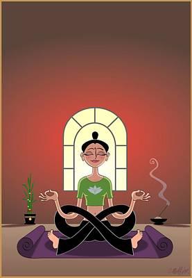 Yoga Pretzel Poster by Cristina McAllister