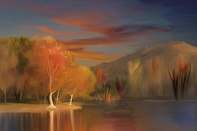 Yorba Linda Lake By Anaheim Hills Poster by Angela A Stanton
