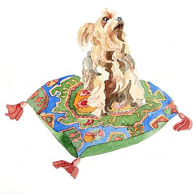 Yorkshire Terrier Poster by Jennifer Abbot