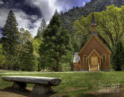 Yosemite Valley Chapel Poster by Kim Michaels