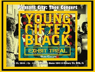 Young Gifted And Black Thee Encore Poster by JaFleu