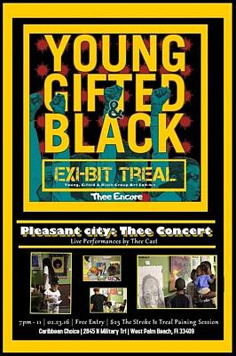 Young Gifted And Black Thee Encore Variant Poster by JaFleu