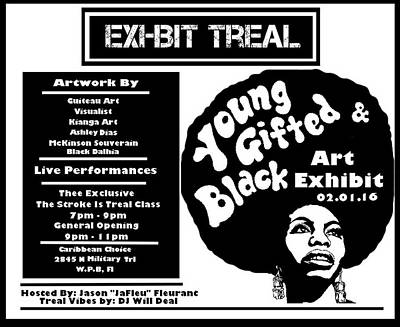 Young Gifted Black Flyer Poster by JaFleu