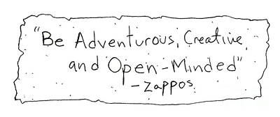 Zappos Core Value Poster by Michael Mooney