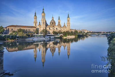 Zaragoza Reflection Poster by Colin and Linda McKie