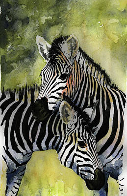 Zebras Poster by Roger Bonnick