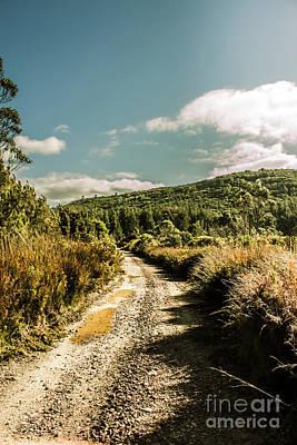 Zeehan Dirt Road Landscape Poster by Jorgo Photography - Wall Art Gallery