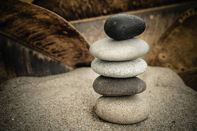 Zen Stones IIi Poster by Marco Oliveira