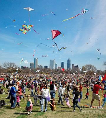 Zilker Park Kite Festival 3 - Austin Texas Poster Poster by Bruce Lemons