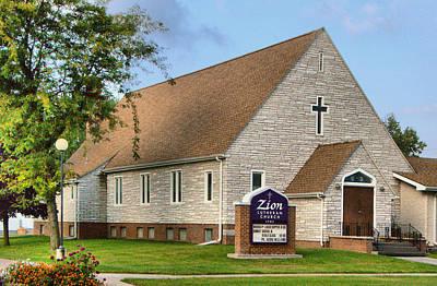 Zion Lutheran Church Of Ainsworth, Nebraska Poster by Josephine Buschman