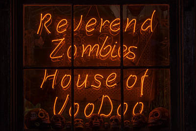 Zombies House Of Voodoo Poster by Garry Gay