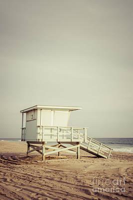Zuma Beach Lifeguard Tower #3 Malibu California Poster by Paul Velgos