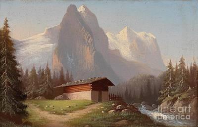 Zwei Kleine Landschaften Poster by Hubert Sattler