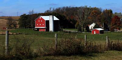 Amish Community Photograph -             Bull Hill by R A W M