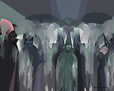 001 - Nightwalkers Dark ... Print by Irmgard Schoendorf Welch