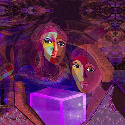 Pandoras Box Painting -  012 - Pandoras Magical  Box ...   by Irmgard Schoendorf Welch