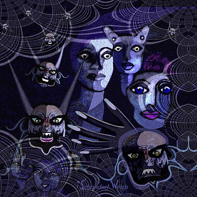 Welch Digital Art -  060 -  Paranoia Blues ... by Irmgard Schoendorf Welch
