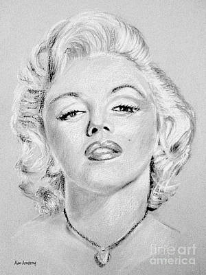 Norma Jean Drawing - # 1 Marilyn Monroe Portrait. by Alan Armstrong