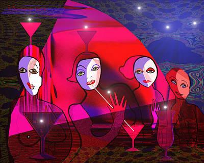 Digi-art Digital Art -  143 - Pink  Afternoon ... by Irmgard Schoendorf Welch