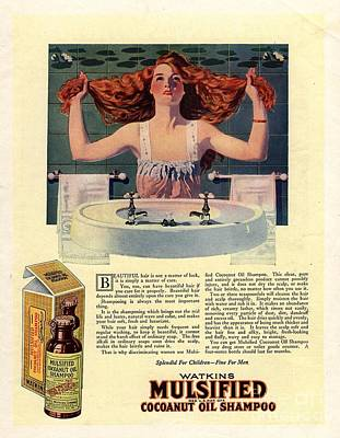 Nineteen-tens Drawing -  1917 1910s Usa Mulsified Shampoo Hair by The Advertising Archives