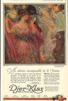 Nineteen-tens Drawing -  1918 1910s Usa Djer-kiss Talcum by The Advertising Archives