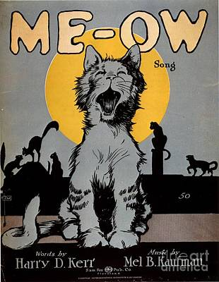 1920s Usa Cats Me-ow Meow Print by The Advertising Archives