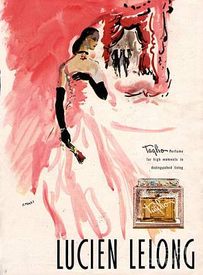 1940s Usa Lucien Lelong   Theatre Print by The Advertising Archives