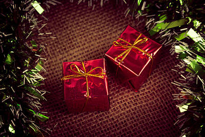 Christmas Photograph -  2 Gifts by Modern Art Prints