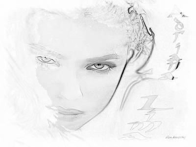 # 25 Adriana Lima Portrait Print by Alan Armstrong