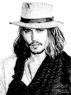 Celebrity Painting - # 3 Johnny Depp Portrait by Alan Armstrong
