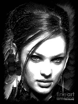 Celebrity Painting - # 51 Candice Swanepole Portrait by Alan Armstrong