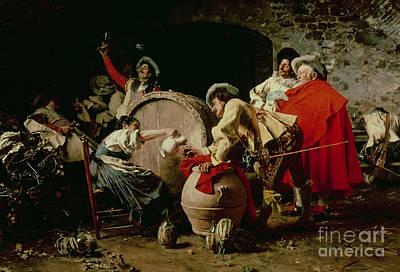 Barrel Painting -  A Good Vintage by Francesco  Vinea