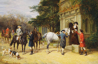Upper Classes Painting -  A Helping Hand by Heywood Hardy