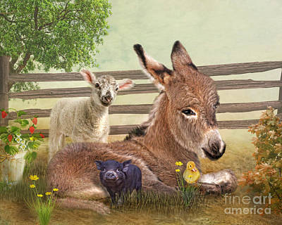 Donkey Mixed Media -  A Little Rest by Trudi Simmonds