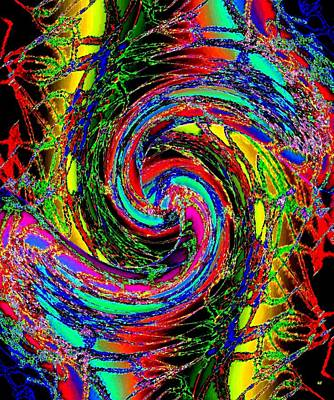 Amalgamation Digital Art -  Abstract Fusion 215 by Will Borden
