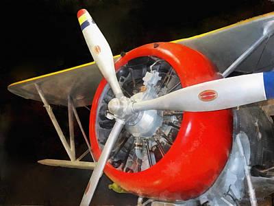 Propeller Photograph -  Airplane - F3f-2 Biplane by Susan Savad