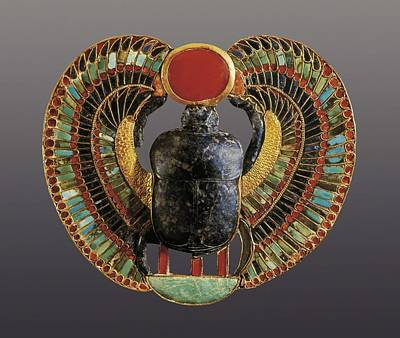 � Aisaeverett Collection Scarab Print by Everett
