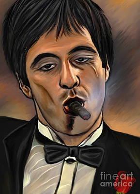 Al Pacino-godfather Original by Andrzej Szczerski