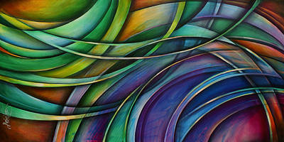 Abstract Movement Painting - ' Approach' by Michael Lang