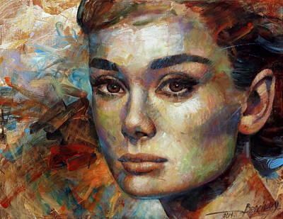 Audrey Hepburn Painting -  Audrey Hepburn by Arthur Braginsky