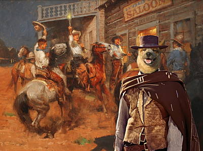 Australian Cattle Dog Art Canvas Print Print by Sandra Sij