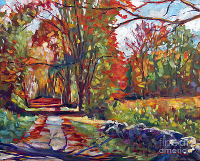 Autumn On The Hudson Original by David Lloyd Glover