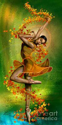 Ballet Painting -  Autumn Zephyr -  Seasonal Winds Series 1 Of 4 by Reggie Duffie