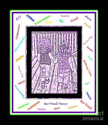 Companion Digital Art -  B F F - Best Friends Forever by Barbara Griffin